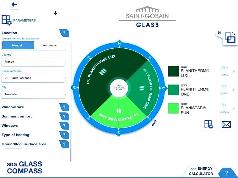 Приложение SGG Glass Compass, Saint-Gobain, остекление для окон