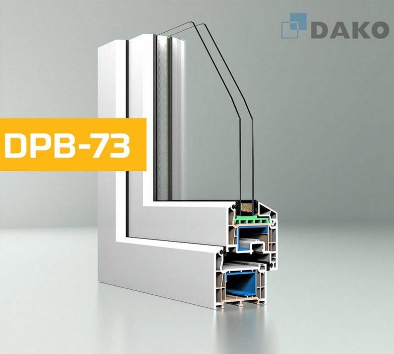 Пластиковые окна DPB-73 и DPB-73+, DAKO