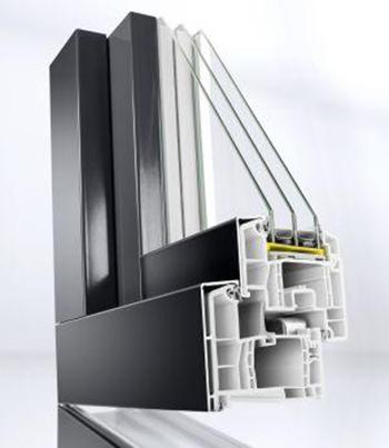 Пластиковые окна REHAU с алюминиевой накладкой ALU TOP 86