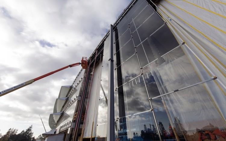 фото: процесс строительства в Купертино