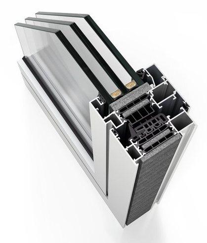 Cortizo, производитель светопрозрачных конструкций из алюминия, алюминиевое окно COR 80 Industrial