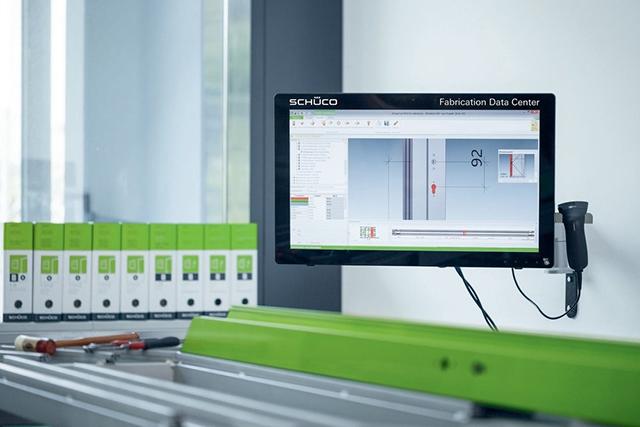 Производственный центр обработки данных Schüco, производство алюминиевых конструкций