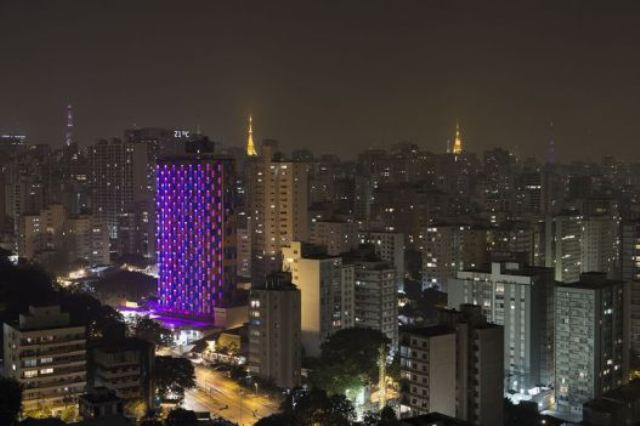 фасады, отель WZ Jardins, «умный» светодиодный фасад