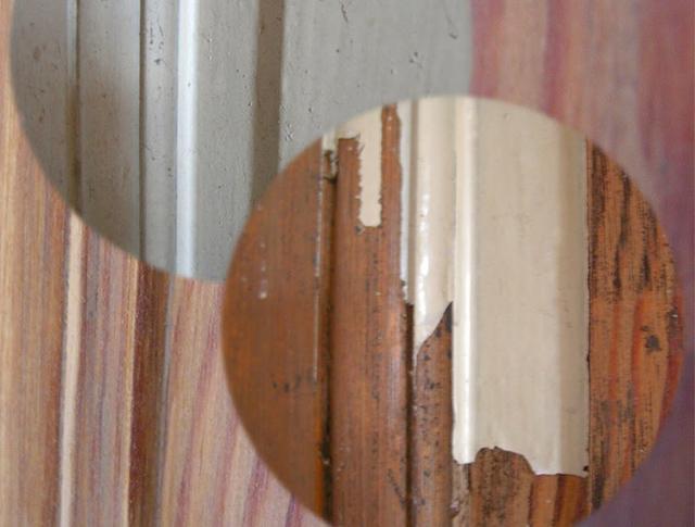 Удаление старой краски с деревянных окон, окраска окон из дерева