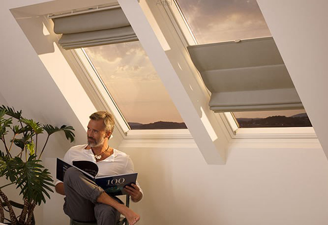 Сменные римские шторы для мансардных окон, Velux