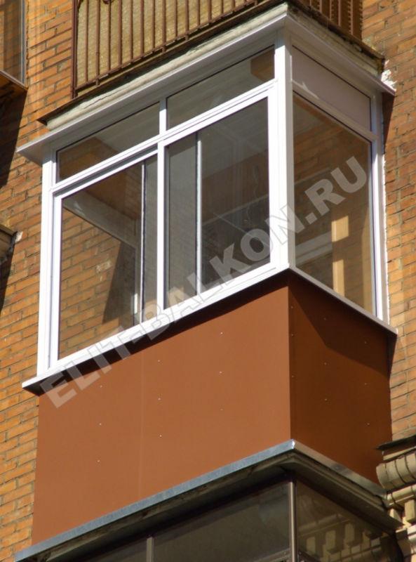 Внешняя отделка балкона гладким оцинкованным листом