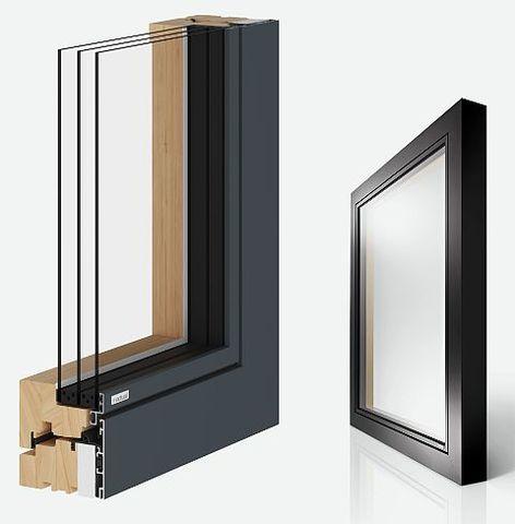 Дерево-алюминиевая система Actual Alwood, комбинированные окна
