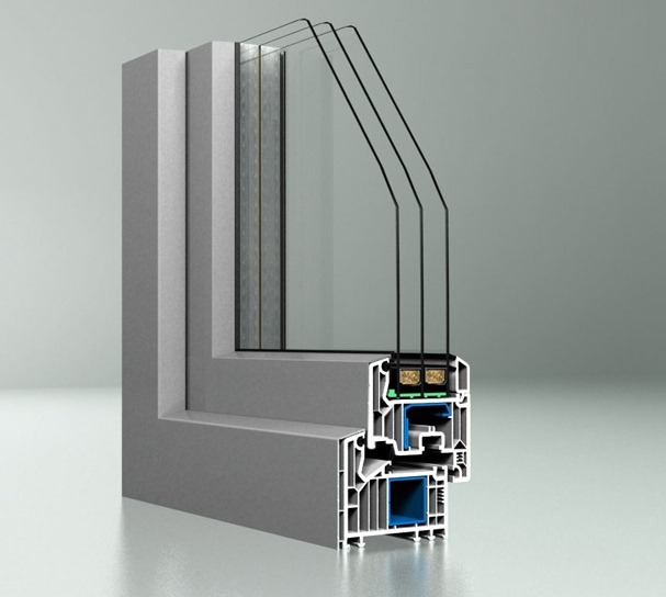 ПВХ окно с алюминиевыми накладками DPQ-82AL, DAKO
