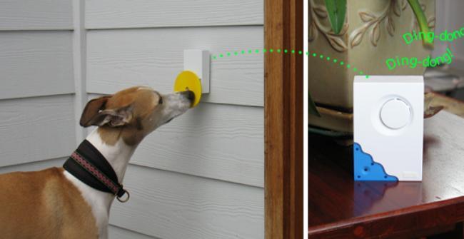 Дверной звонок для собаки Pebble Smart Doggie Doorbell, входная дверь