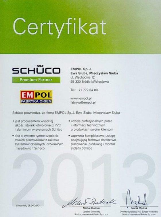 EMPOL, производитель пластиковых окон, Schüco