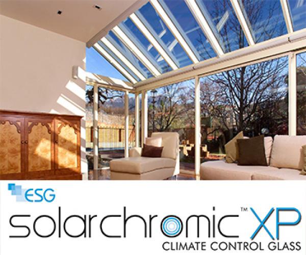 ESG, производитель стеклопакетов, стекло с независимым изменением уровня прозрачности Solarchromic XP