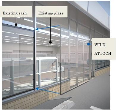 Низкоэмиссионное стекло WILD ATTOCH, AGC, термомодернизация одноэтажных торговых зданий