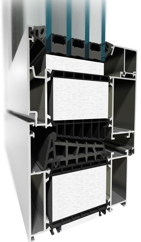 Aluprof, поставщик алюминиевых систем, пассивное алюминиевое окно MB–104 Passive