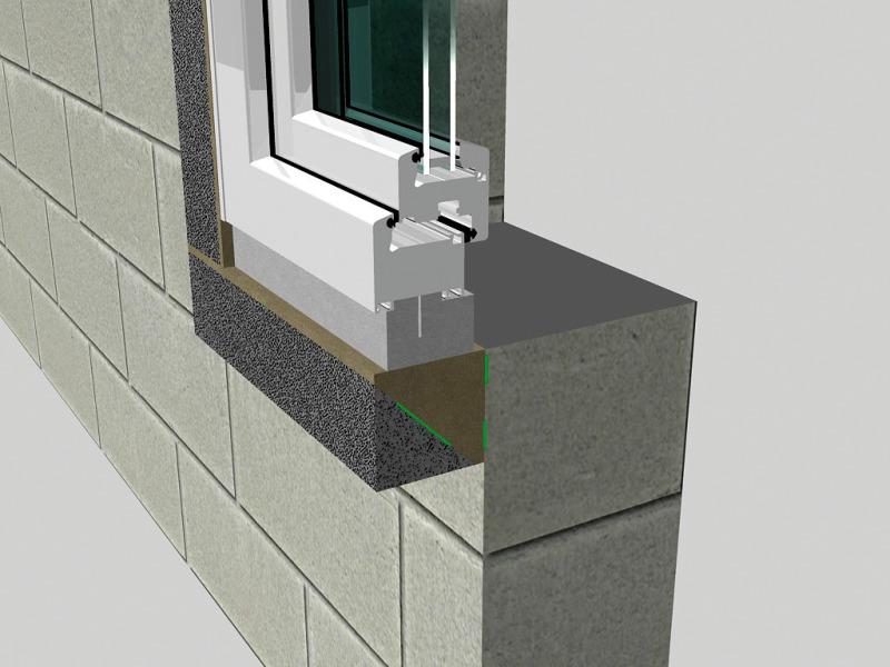 Расположение окна в стене, монтаж окон