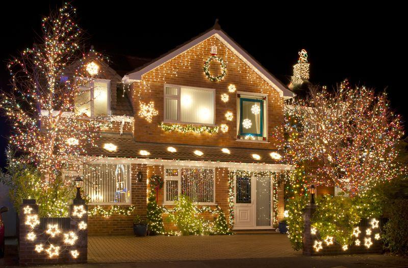 Рождественские декорации окон, украшение окон на Рождество, Новый год