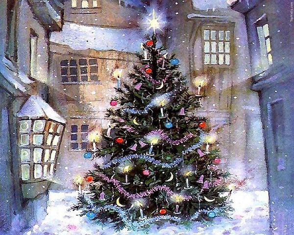 Рождественские декорации окон, украшение окон на Рождество