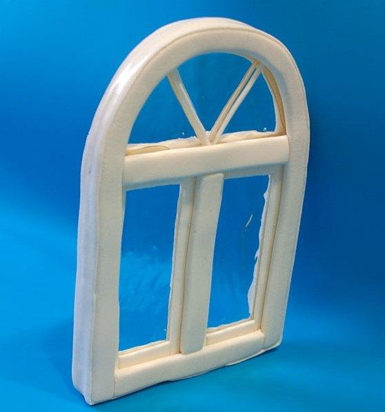 Пластиковое окно, торт окно