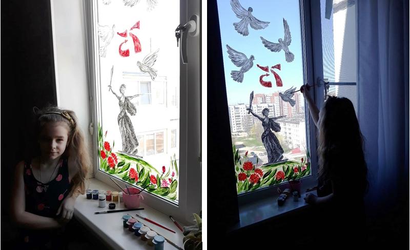 Фото: гуашь идеальная краска для стекла – ложится густо, много цветов, просто смыть